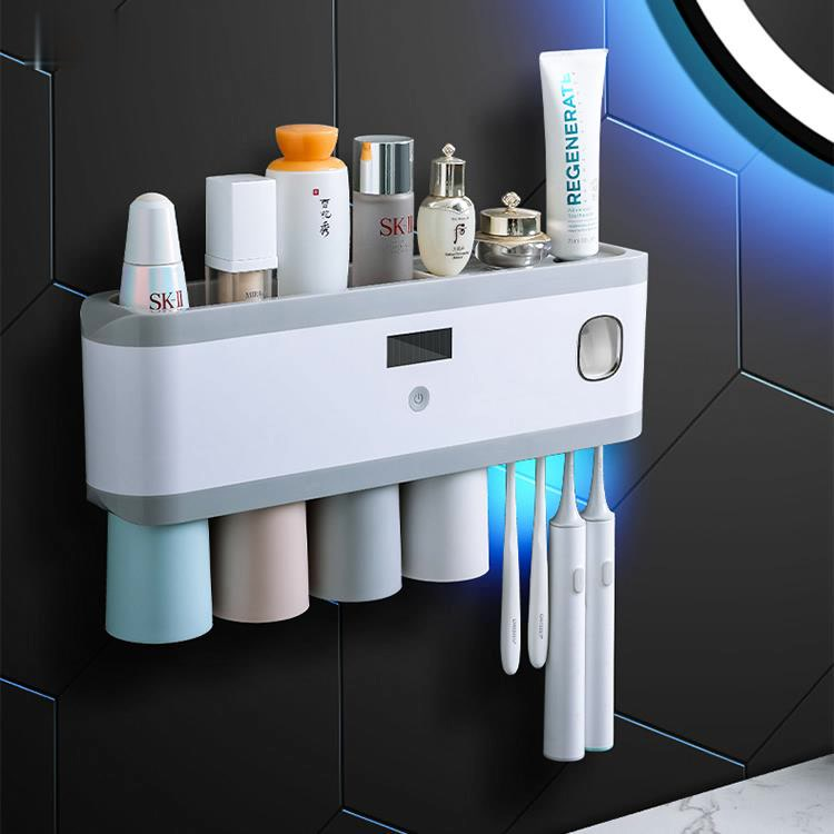 Bathroom Accessories Toothpaste Holders Nordic Organizer Uv Wall Stickers Toothpaste Holders Salle De Bain Home Products DB60YS