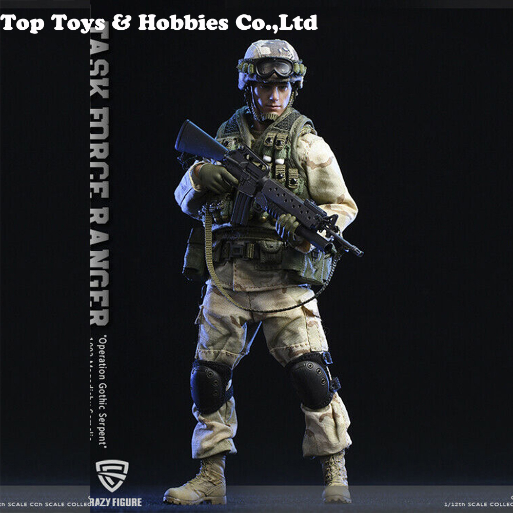 Crazy Figure 1/12 Scale US Military 75th Rangers Regiment Grenadier Somalia Figure Doll