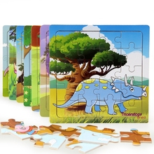 Dinosaur Puzzles Wooden Toys Puzzles For kids Cartoon Animal Puzzle Bab