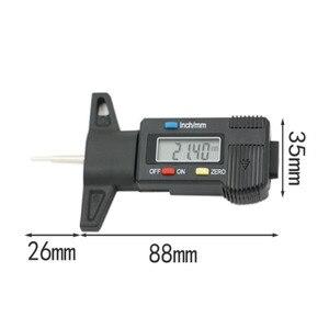 Image 3 - Righello di profondità del modello di pneumatico LED Display digitale elettronico calibro a corsoio per pneumatici Tester di profondità del battistrada digitale righello di misurazione dei pneumatici