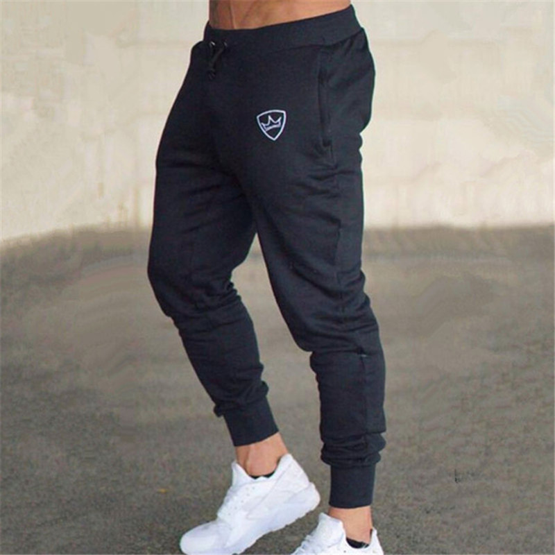 2020 Spring Men's Fitness Training Running Pants Men's Jogging Pants Slim Football Sports Pants Cotton Fitness Running Tights