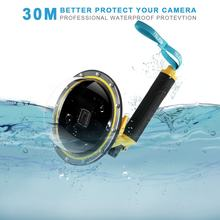 For GoPro Hero 7/6/5 Durable Diving Kits Lens Cover Dome Port PC Waterproof Housing Floating Snorkeling Gopro 5 6 7 Accessories(China)