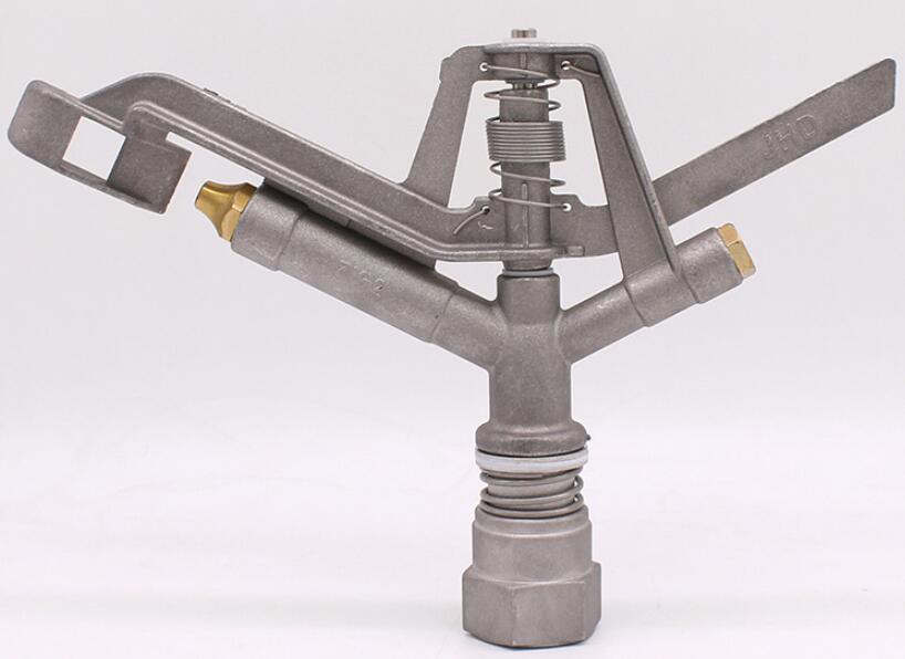 Großhandel 32mm Aluminium legierung wasser pistole 360 ° Dreh rocker düse wasser sparende bewässerung sprinkler