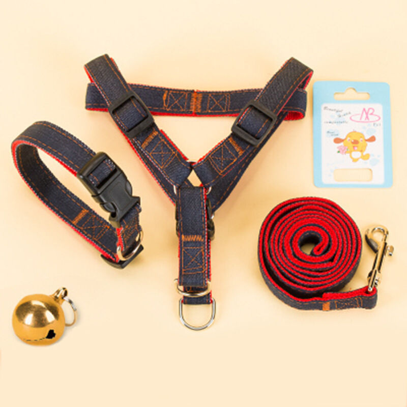 Reflective Pet Dog Hand Holding Rope Small Dogs Xiong Bei Tao With Dog Traction Rope Dog Rope Teddy Dog Chain Neck Ring