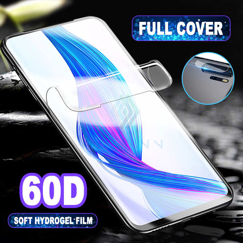 2-in-1 Soft Hydrogel Film For Honor 9X 10 <font><b>20</b></font> Lite <font><b>Pro</b></font> 20S Camera Lens Tempered <font><b>Glass</b></font> Screen Protector For <font><b>Huawei</b></font> <font><b>Mate</b></font> 30 <font><b>20</b></font> P30 image