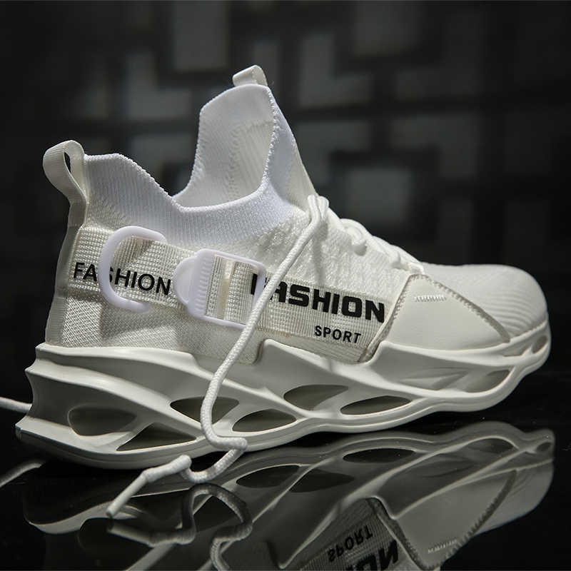 2020 Nieuwe Vliegende Weave Super Light Heren Loopschoen Outdoor Sport Schoenen Heren Demping Antislip Mesh Wandelen schoenen Mannen Sneaker