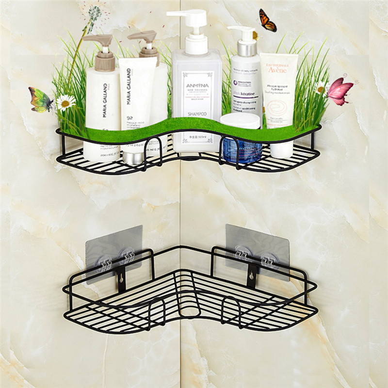 Punch Free Corner Bathroom Shelf