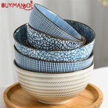 Bol Ramen en en porcelaine en céramique de Style japonais, grand bol à soupe et à nouilles, Restaurant, bol de riz rétro ménager, vaisselle