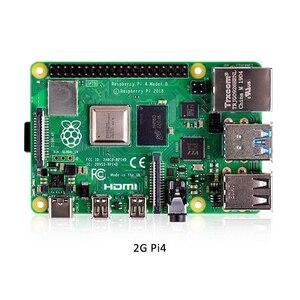 Image 3 - Raspberry Pi 4 Mẫu B 2GB Bộ RAM 2GB Với Pi 4 B Hợp Kim Nhôm (đen Hoặc Màu Bạc) và Tản Nhiệt Làm Mát Bộ