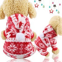 Jumpsuit Soft Fleece Puppy Hoodie Autumn Dog Clothing For Teddy Pomeranian XS XXL Small Dog Clothes Warm Winter Pet Dog
