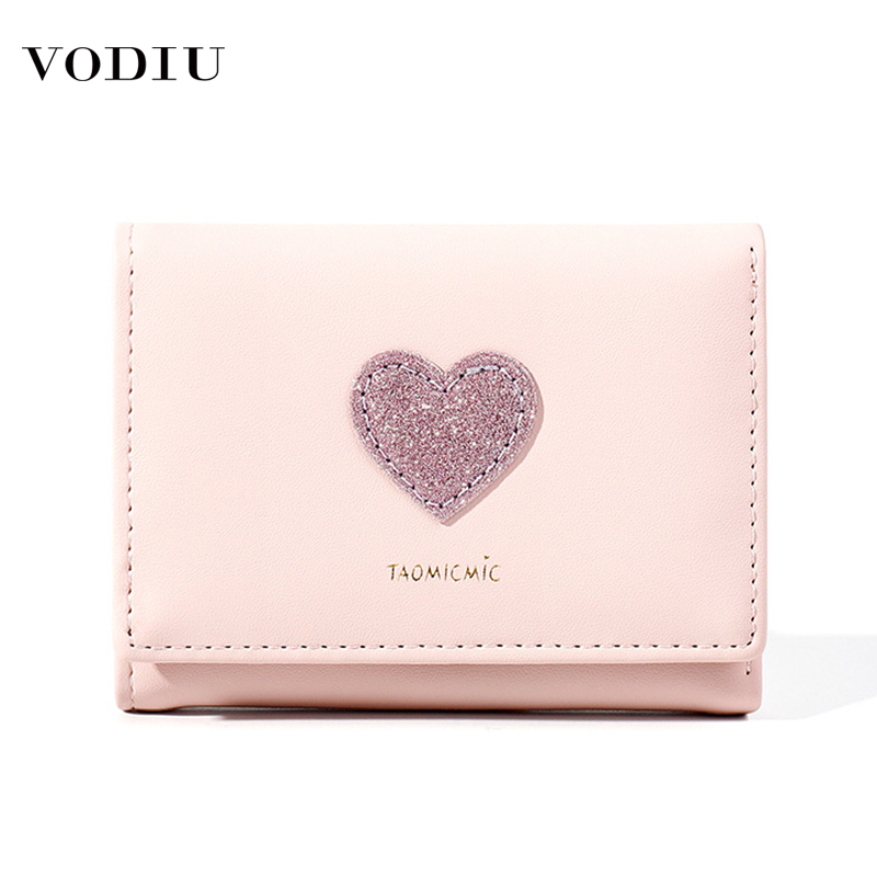 New Arrival Fashion Women Wallet Small Cute Coin Purse Card Holder Wallets Short Folding Clutch Bag Sequin Ladies Coin Purses