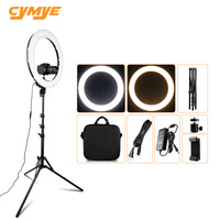 Cymye RL 18A bicolor dimmable ring light 55w 512pcs led beads photography lingting lamp for makeup