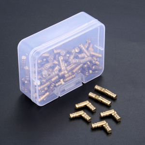 Image 3 - DRELD 100 sztuk mosiądz ukryte zawiasy beczki biżuteria drewniane pudełka szafka ukryty niewidoczny zawias meblowy 4*20mm ze schowkiem