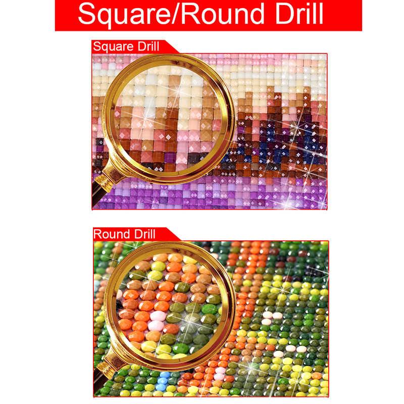 100% pełna 5D Diy placu/okrągły diament malarstwo piękno rysunek 3D diament malowanie dżetów obrazy haft D5
