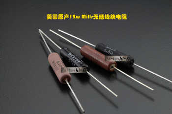2pcs/lot American original Mills non-inductive wire wound resistance cathode frequency division 12W 0.1R-330R free shipping - DISCOUNT ITEM  13 OFF Electronic Components & Supplies