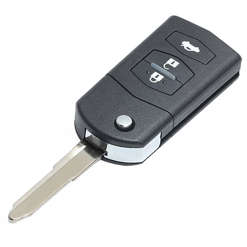 KEYECU-Replacement-Flip-Remote-Car-Key-Fob-3-Button-433MHz-4D63-for--2-3-5