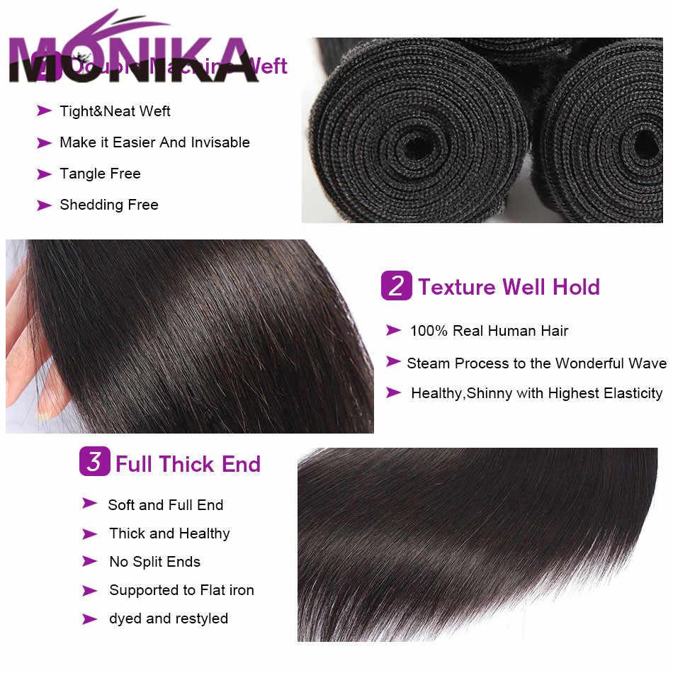 Monika 30 zoll Bundles Gerade Haar Bundles Menschliches Haar 3 Bundles Tissage Brasilianische Haarwebart Bundles Nicht-Remy Haar extensions