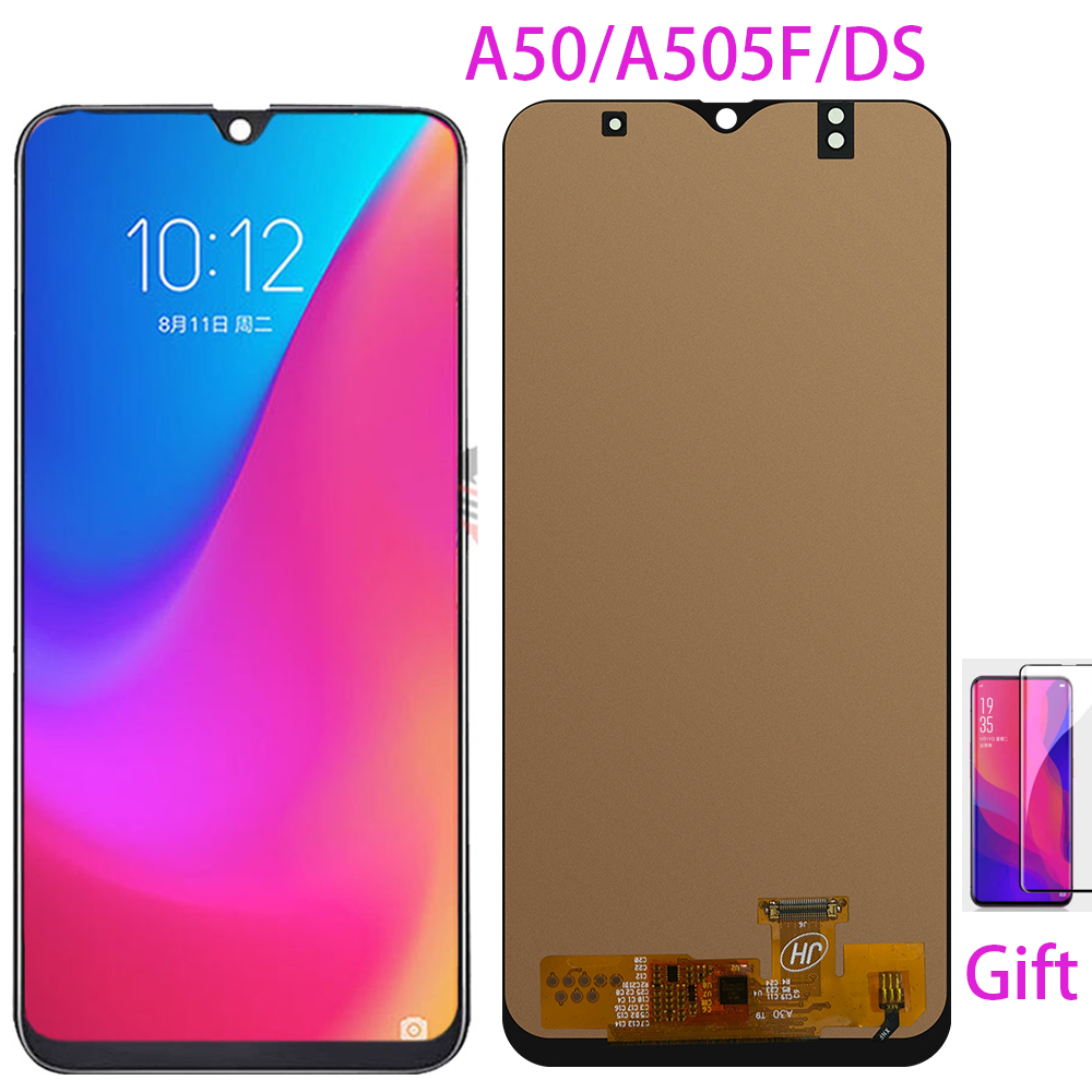 For Samsung Galaxy A50 SM-A505FN/DS A505F/DS A505 LCD Display Touch Screen Digitizer Assembly For Samsung A50 Lcd