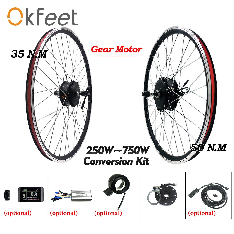 EBike Conversion Kit 250W 48V 500W 750W Hub Motor Rad Display Elektrische Fahrrad Conversion Kit