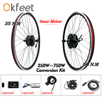 eBike Conversion Kit 250W 48V 500W 750W Hub Motor Wheel Display Electric Bike Bicycle Conversion Kit