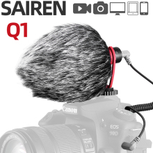 Ulanzi SAIREN Q1 Vlog Microphone Cardioid Mic Voice Recording Interview MIC for Nikon Canon Sony DSLR  iPhone Android SmartPhone