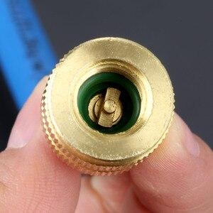 Image 5 - 1/4 pouces SAE 2OZ huile injecteur R134A R12 R22 voiture huile liquide de refroidissement Tube de remplissage cvc outil injecteur colorant oz Injection Auto outils