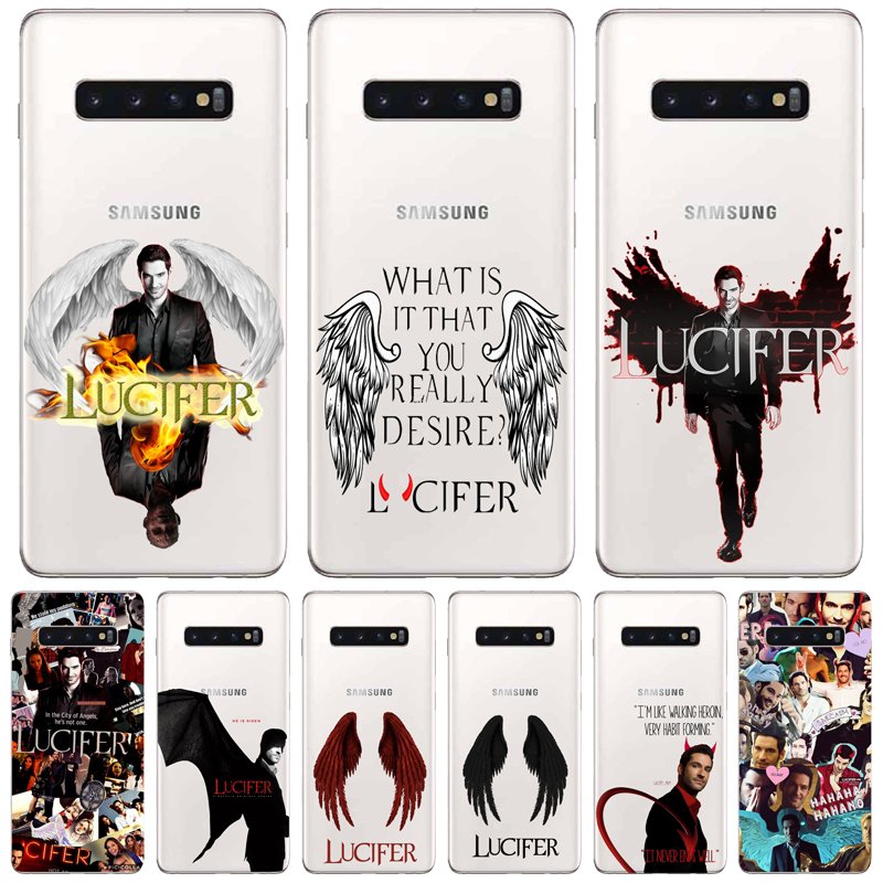 American TV Degenerate angel Lucifer phone accessories Case For Samsung Glaxy S/Note 6 7 8 9 10 Lite Pro Soft TPU Fundas Coque