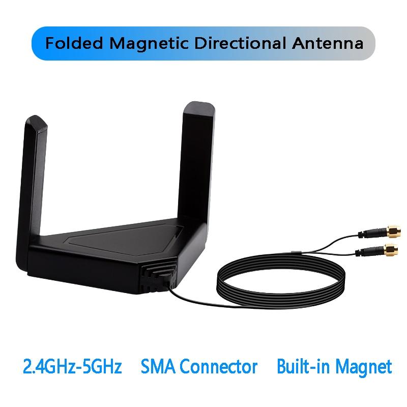 Wireless External Antenna Wifi6 Intel AX200 Card M 2 Wifi Adapter Bluetooth 5 1 For Desktop Laptop 120CM Managetic Antennas
