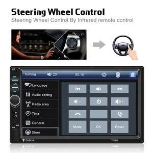 "Image 3 - AMPrime 7018B Autoradio 2din Car Radio Multimedia MP5 Player 7"" Auto Stereo Bluetooth 2Din Auto Mirrorlink TF/USB/FM With camera"