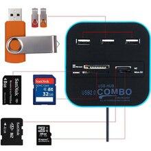 3 Port USB HUB Card Reader Multi USB Splitter 7 in 1 Support Micro TF SD