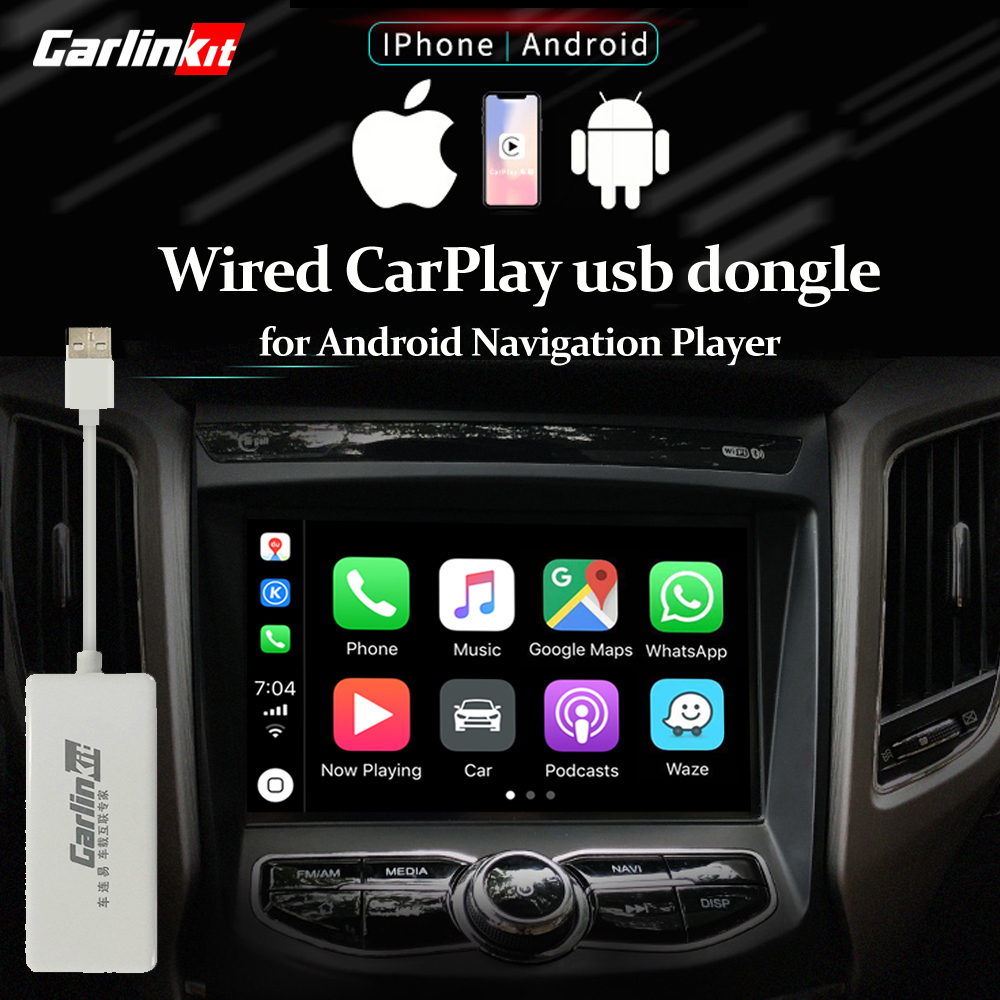 Carlinkit usb dongle apple ios carplay android auto com controle de tela sensível ao toque para android carro unidade central