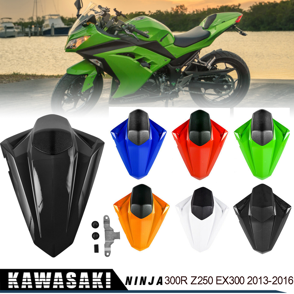 Ninja 300/EX300 Z250 Rear Seat Cover Cowl Fairing ABS Seat Cowl Faring For Kawasaki NINJA300 Z 250 EX300 2013-2016 2014 2015