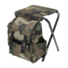 цена на Folding Portable Fishing Chair Fishing Backpack Stool Convenient Wear-resistant For Outdoor Hunting Climbing