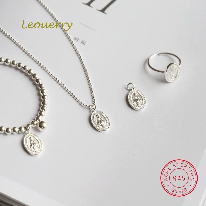 Leouerry Стерлинговое Серебро 925 пробы блестящий циркон кулон