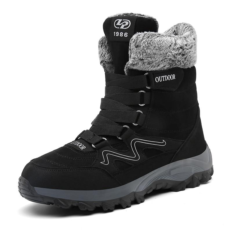 MARSON/мужские ботинки 2019 г. Теплые зимние ботинки на меху мужские зимние ботинки рабочая обувь Мужская модная обувь, большие размеры 39-46