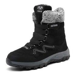 MARSON Homens Botas de Inverno Com Pele 2019 Botas de Neve Quente Dos Homens Botas de Inverno Sapatos de Trabalho Dos Homens de Calçados de Moda Mais Tornozelo sapatos 39-46