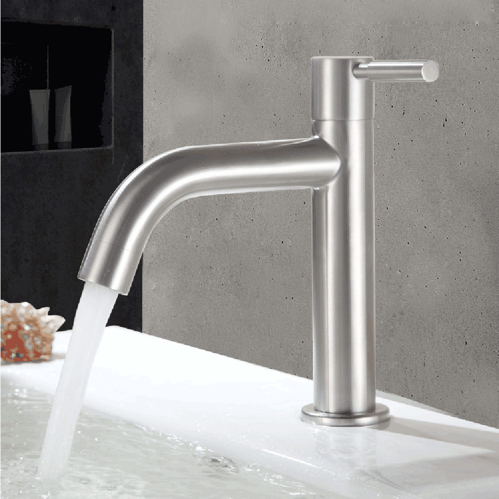 Bathroom Sink Faucet Cold Water Single Hole Sink Basin Faucet Bathroom Kitchen Tool Basin Tap Accessory
