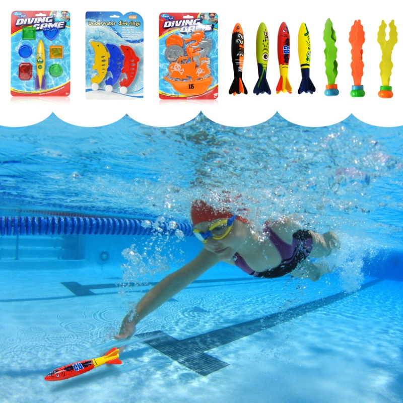 Beach Toys Summer Torpedo Playing Rocket Toy Funny Swimming Pool Game Children Diving Underwater Dive Toys