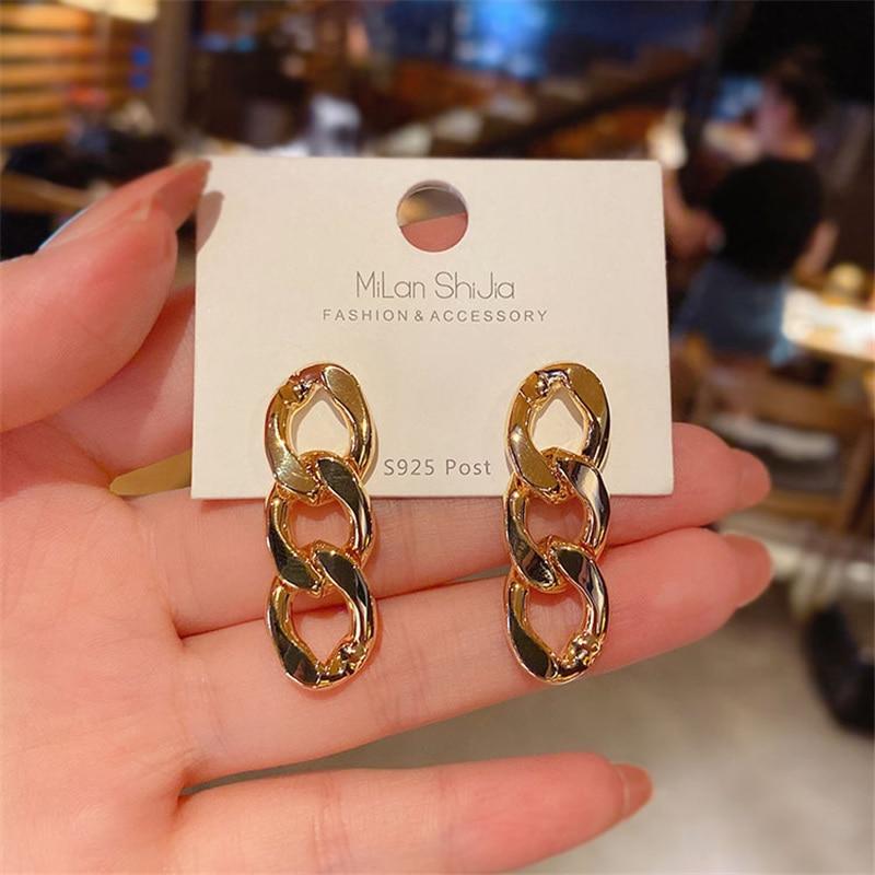 Women Tassels Chain Earring Unusual Earrings Fashion Drop Earrings 2021 Long Chain Earrings For Women Female Jewelry