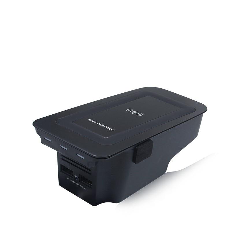 Carro carregador sem fio para volvo xc90 novo xc60 s90 v90 2018 2019 especial placa de carregamento do telefone móvel acessórios do carro v60