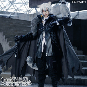 Image 1 - Anime! Arknights SilverAsh Game Handsome Gothic Leather Uniform Cosplay Costume Full Set Halloween Suit For Men Free Shipping