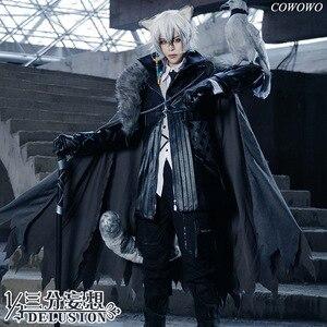 Image 1 - Anime! Arknights SilverAsh Spiel Hübscher Gothic Leder Uniform Cosplay Kostüm Full Set Halloween Anzug Für Männer Freies Verschiffen
