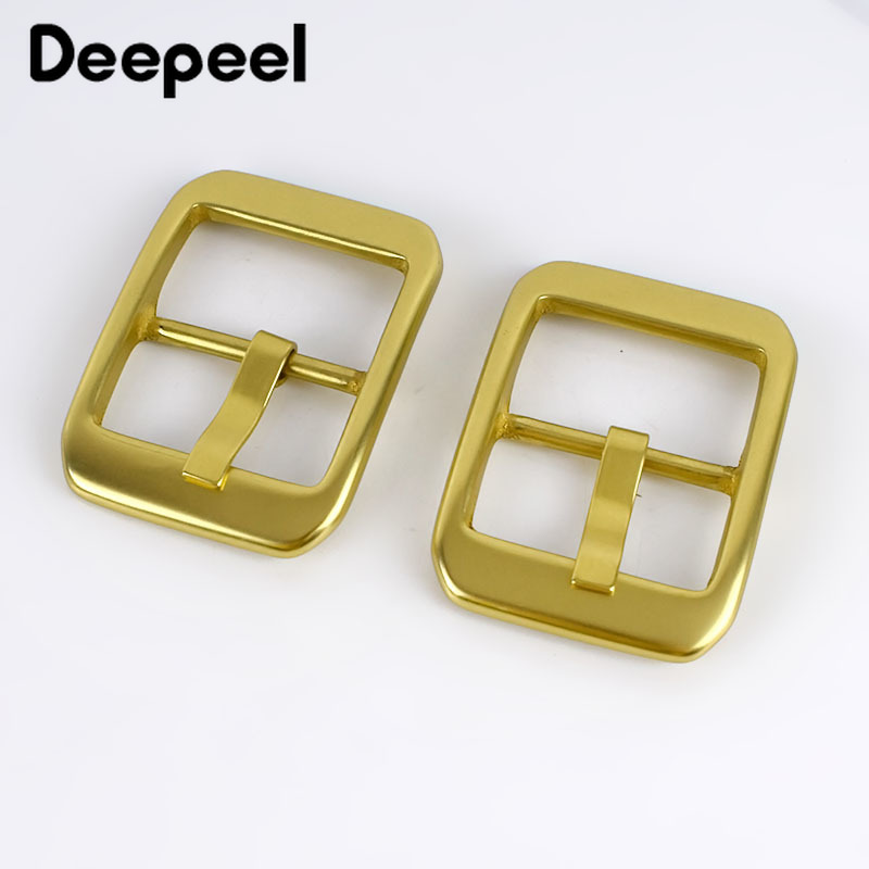 Deepeel 1pc 40mm Pure Solid Brass Belt Buckles Casual Pin Buckle Belt Head DIY Jeans Leather Crafts Adjust Garment MaterialYK050