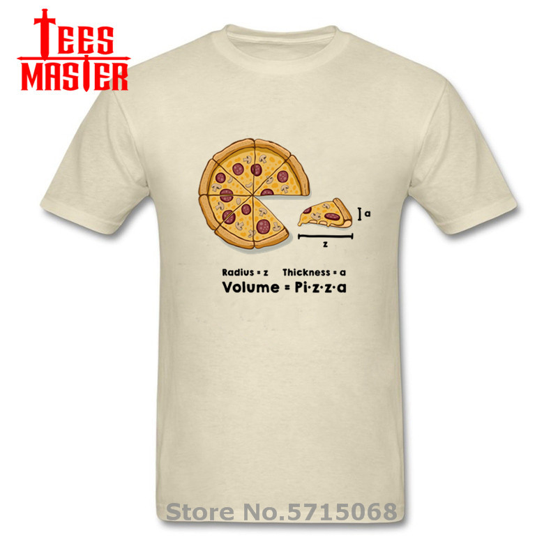 Funny Pizza formula T-shirts Geek Delicious mushrooms bacon pepperoni cheese sauce pizza T shirts men homorous maths Tshirt male image