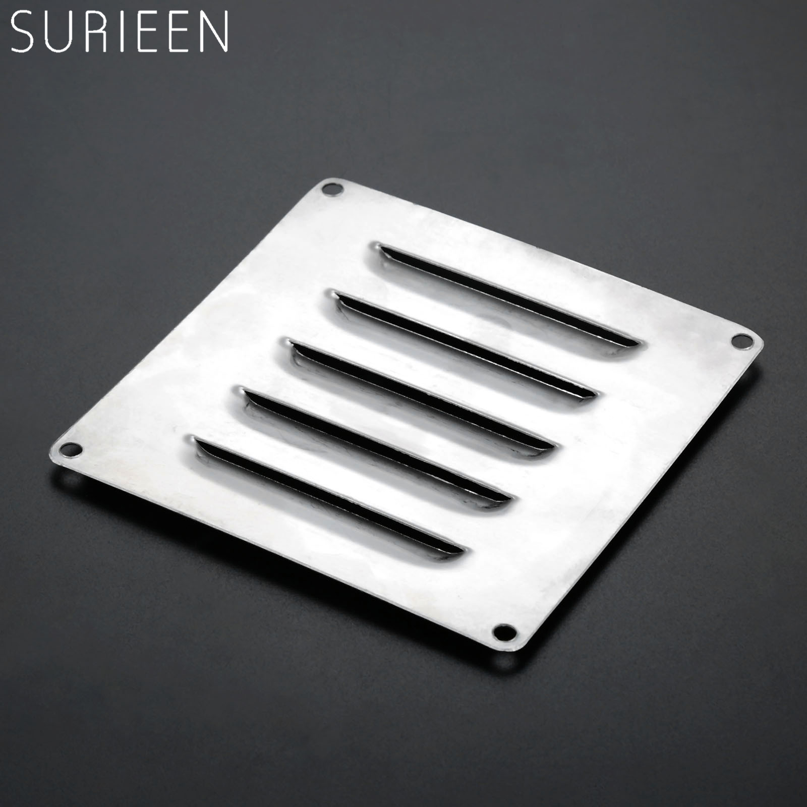 120mm*120mm Marine Square Air Vent Grille Metal Wall Ventilation Boats Stainless Steel Vertical Rectangular Louvered Vent Cover