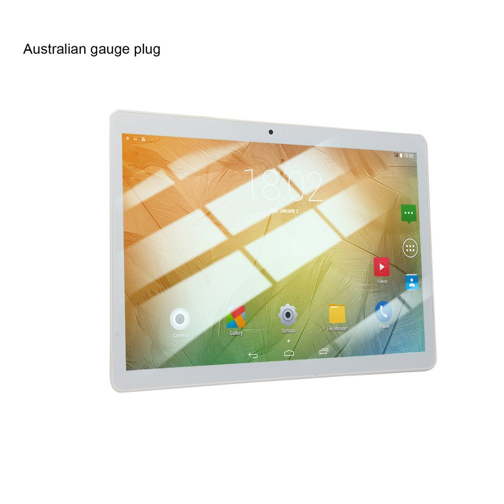 KT107 Round Hole Tablet 10.1 Inch HD Large Screen Android 8.10 Version Fashion Portable Tablet 8G+64G White Tablet