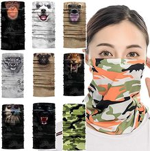 9 Pack of Sun UV Dust Protection Windproof Bandana Face Mask Neck Gaiter Magic Scarf Balaclava Face Cover Scarf for Men Women