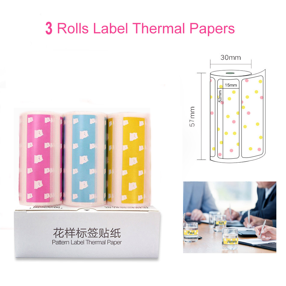 Термальность Бумага этикетка бумажный стикер Бумага для PeriPage Бумага, которые только начинают фотопринтер - Цвет: Thermal Label Paper