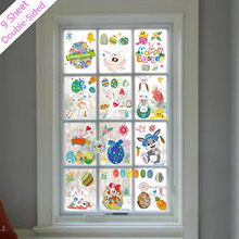 Novo 2021 adesivos dia da páscoa adesivos estáticos janela de vidro adesivos geladeira novo estilo de etiqueta