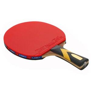 Image 3 - LOKI 6 yıldız profesyonel masa tenisi raketi abanoz karbon masa tenisi raketi hızlı saldırı Ping Pong raket ark Ping Pong raketleri